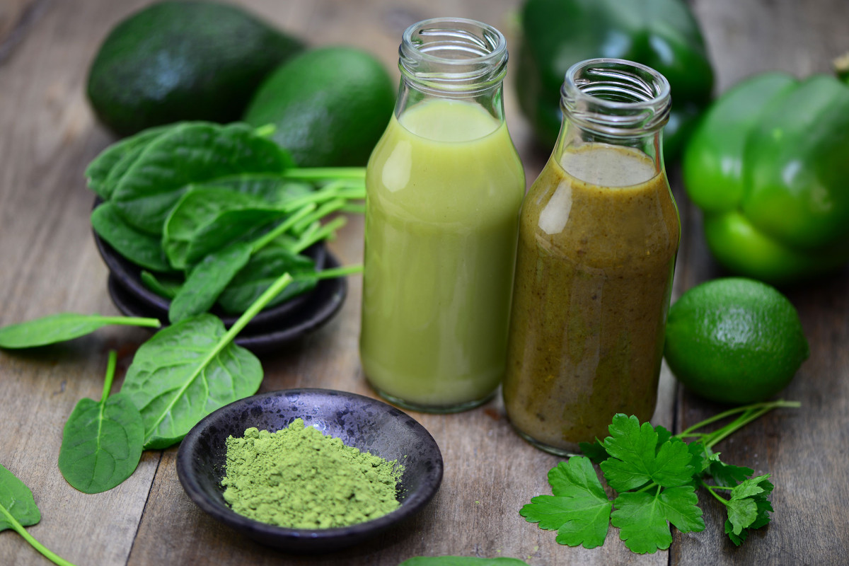 Mint and avocado juice
